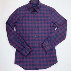 Charles Tyrwhitt Extra Slim Fit Plaid Shirt S